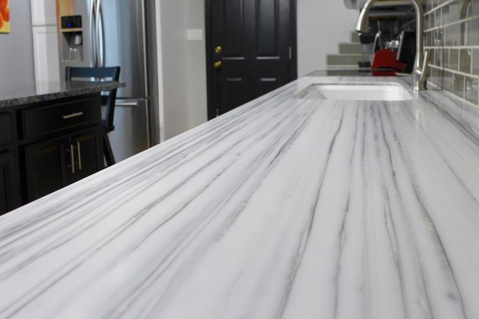 Marble Countertops - Formica Striato Solid Surface Countertop